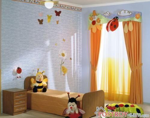 Шторы для детской спальни фото