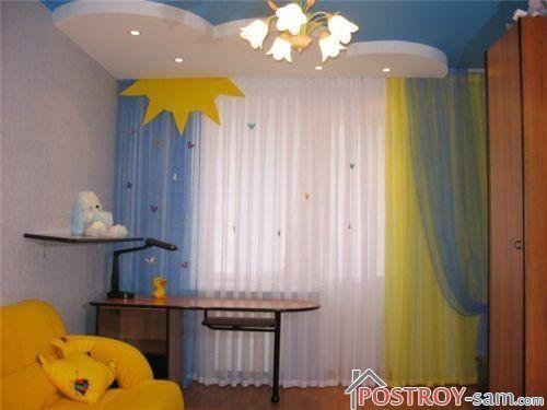 Желто синие шторы