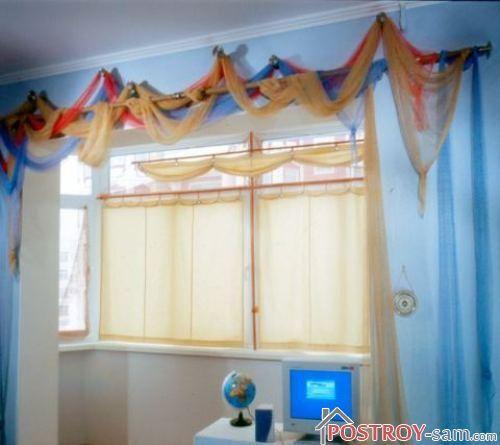 Фото штор на лоджии