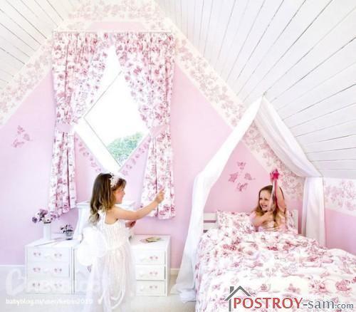 Короткие шторы в детской фото