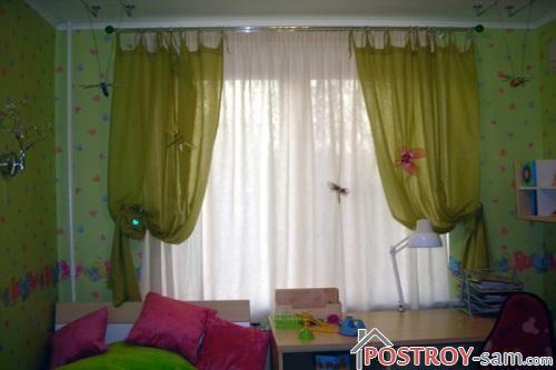 Зеленые шторы фото