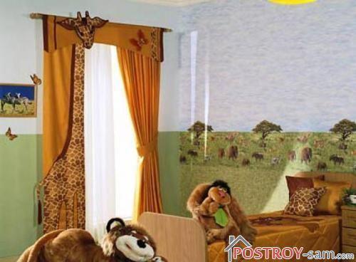 Штора жирафа