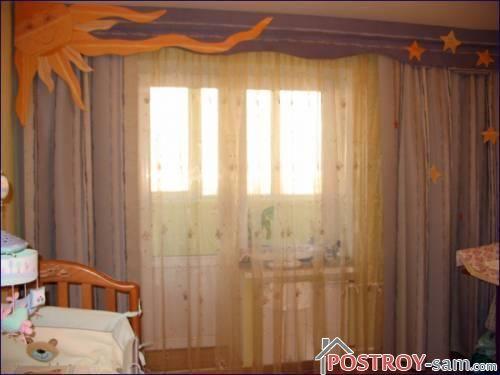 Классические шторы в детскую комнату