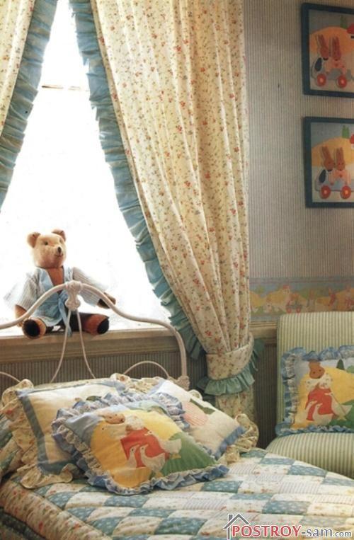Фото детских штор для девочек