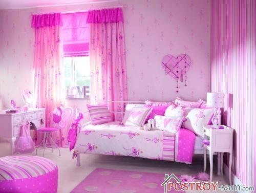 Розовые шторы фото