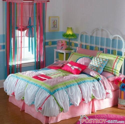 Нитяные разноцветные шторы