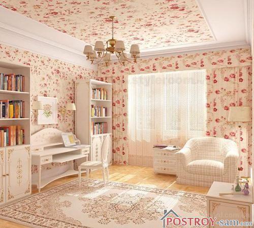 Комната и шторы в одном стиле