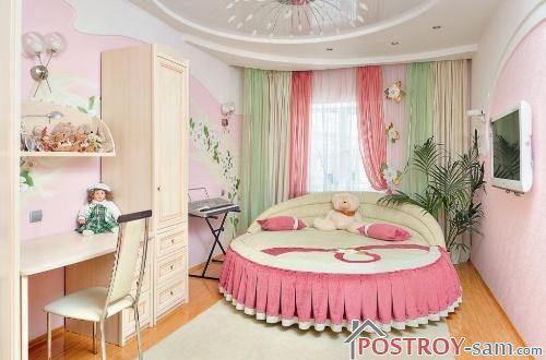 Нежные шторы в комнате девочки