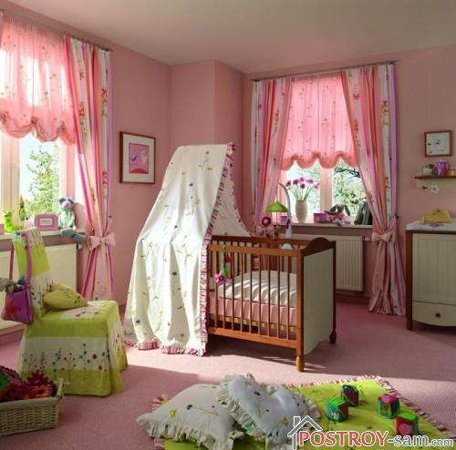 Шторы для девочки младенца