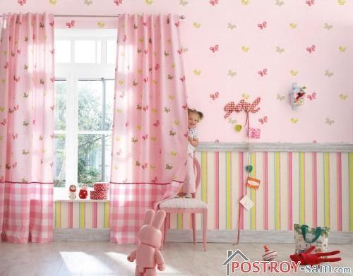 Розовые шторки фото