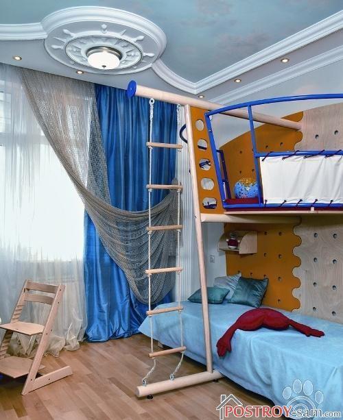 Тематическая штора в детской мальчика