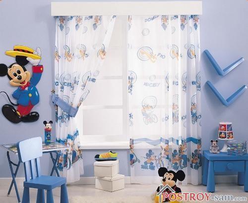 Фото штор в детской мальчика