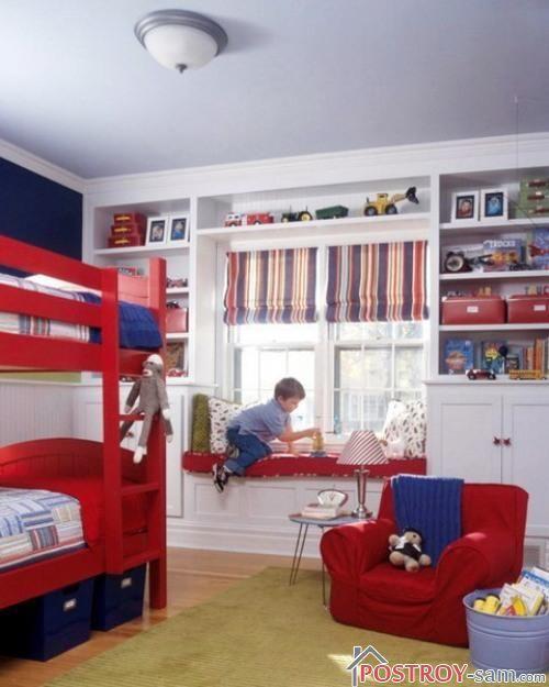 Римские полосатые шторы для детской мальчика