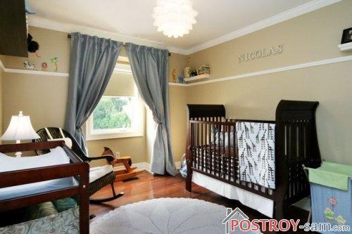 Шторы в комнату мальчика-младенца