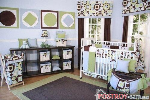 Дизайнерские шторы в комнате малыша
