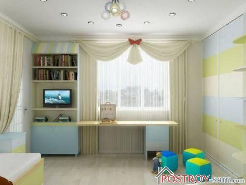 Светлые шторы для детской комнаты фото