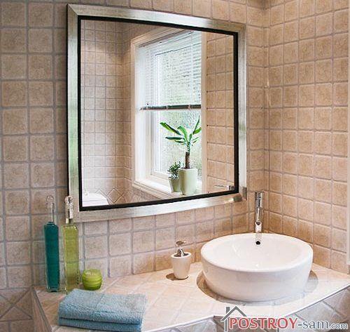 Установка зеркала в ванной своими руками. Способы крепления