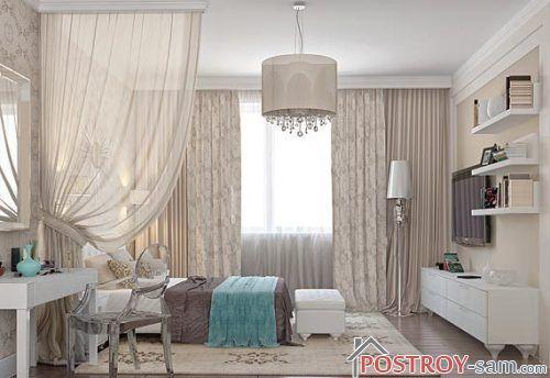 Комбинация цветов и оттенков с бежевой спальни