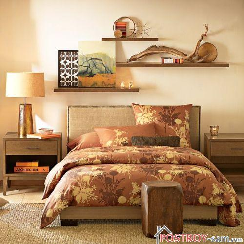 Фото бежевой спальни