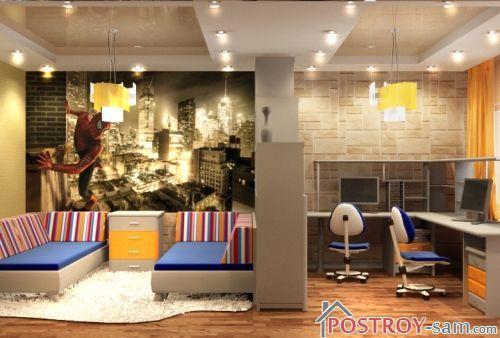 Оформление комнаты для двух подростков