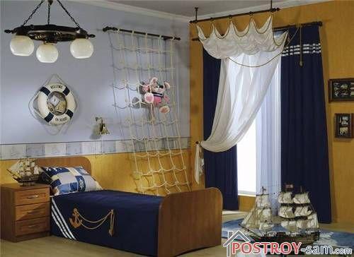 Морской стиль в комнате подростка