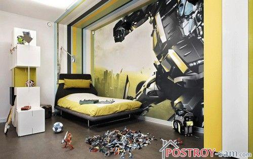обои для комнаты мальчика: