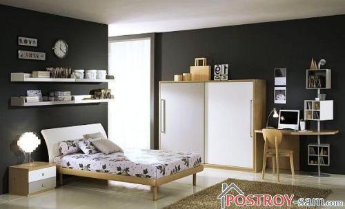 Шкаф в комнате подростка