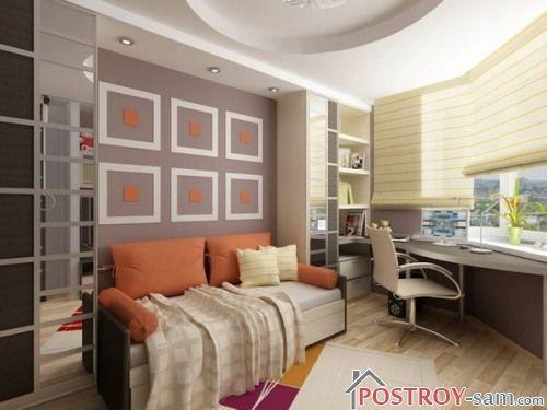 Дизайн маленькой комнаты подростка