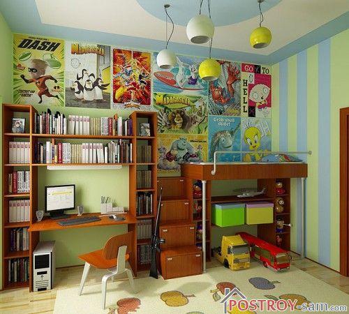 Декорирование стен детской