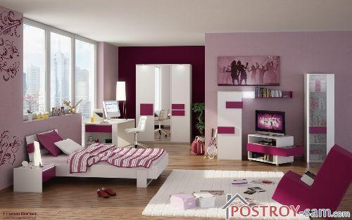 Комната для девушки в розовых тонах