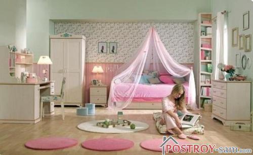 Обои в интерьере комнаты для девушки