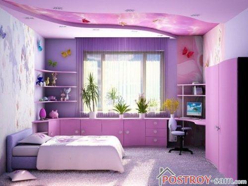 Как оформить интерьер комнаты для девушки фото