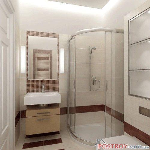 Маленькие ванные комнаты с душевой кабиной без унитаза дизайн фото