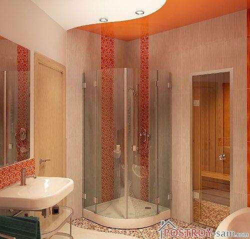 Дизайн ванной с душем