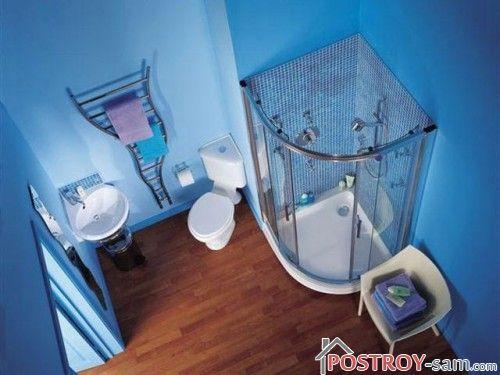 Планировка ванной комнаты с душевой кабинкой