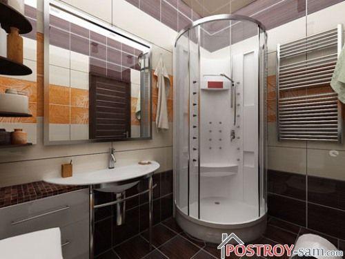 Дизайн ванной комнаты с душевой кабиной. Почему душевая кабина лучше ванны?