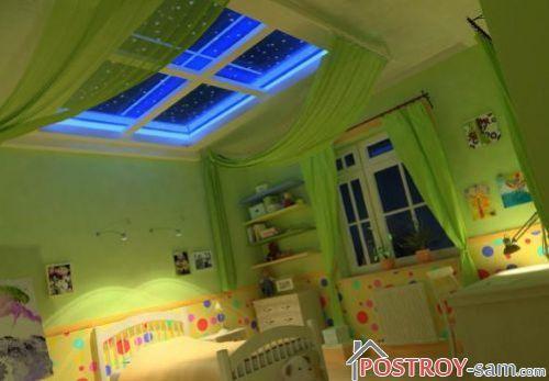 Фальш-окна в потолке