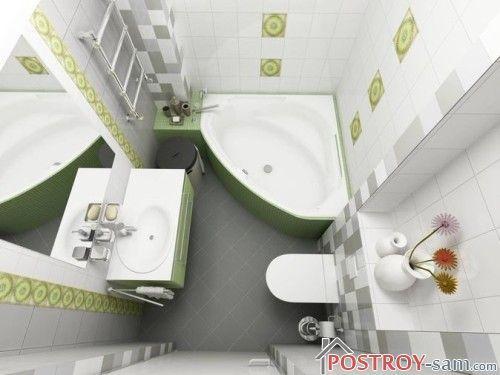 Оформление ванной комнаты и туалета 4 кв. м