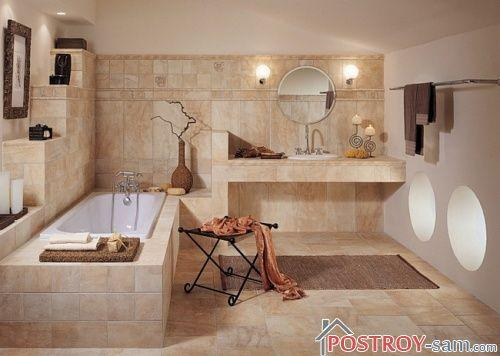 Пастельный цвет ванной комнаты
