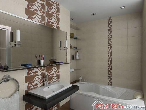 Мебель в ванной комнате площадью 6 кв. м