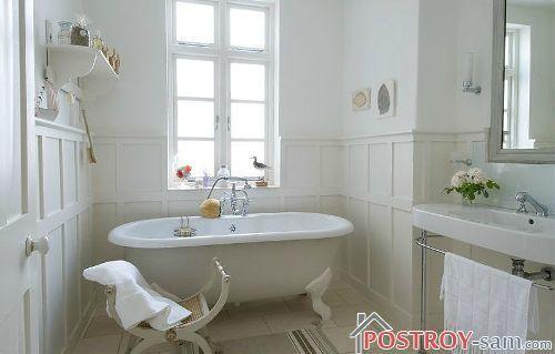 Французский кантри в интерьере ванной комнаты