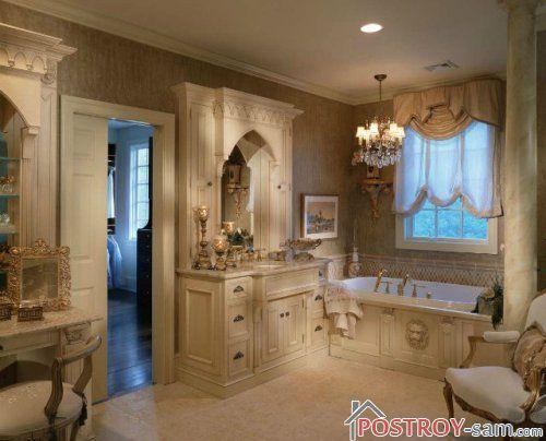 Классический стиль ванной комнаты