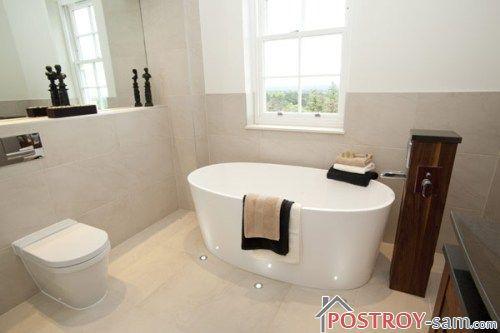 Стиль модерн в интерьере ванной