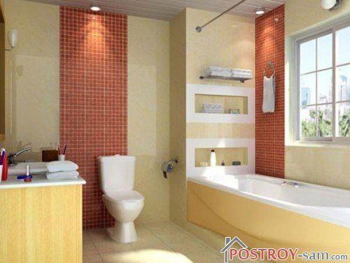 Интерьер ванной комнаты и туалета. Фото