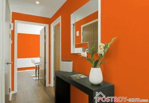 Оранжевая прихожая