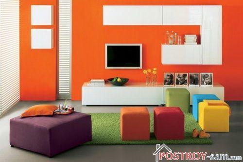 Сочетание оранжевого с другими цветами