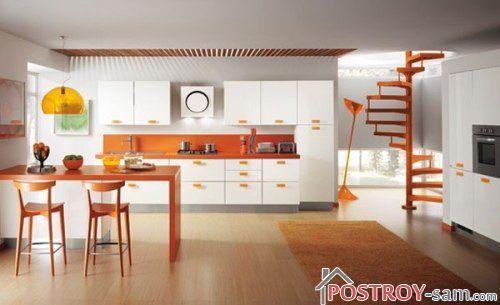 Правила использования оранжевого цвета на кухне