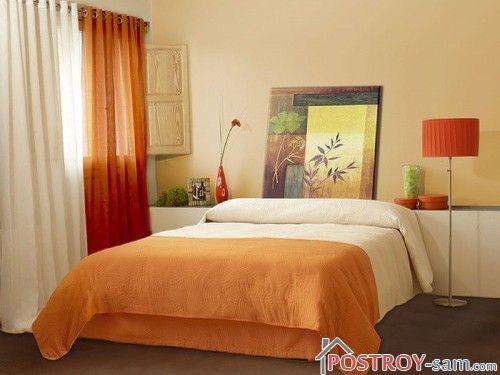 Теплые цвета в спальне
