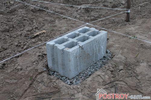 Установка блока