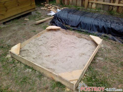 Как сделать детскую песочницу за 30 минут?